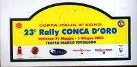X Adesivo Stiker Etiqueta 23 RALLY CONCA D'ORO CORLEONE - Targhe Rallye