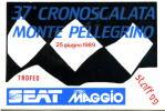 Adesivo Stiker Etiqueta CRONOSCALATA MONTE PELLEGRINO - Targhe Rallye