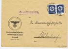 Deutsche Reich Dienstmarken Brief Kronach Mit Streifen 2x M 167 - Briefe U. Dokumente