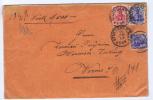 Deutsche Reich: Wert Brief  Germania, Stuttgart -> Worms, Misch Frankatur, Valeur Declaree
