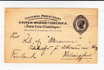 USA - 1902 - CARTE ENTIER POSTAL De HARTFORD Pour HELSINGFORS (FINLANDE)