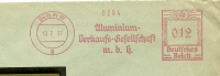 Germany Window Cover Meter Aluminium Verkaufs-Gesellschaft, Berlin 13-7-1937 - Fysica