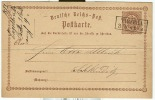 Allemagne - Empire , Entier Postal De TROTHA (Trotila) En Saxe Vers SCHKEUDITZ 3/10/73 - Deutschland