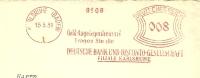 Germany Firm Cover Meter Geld-Angelegenheiten? Deutsche Bank Und Disconto, Karlsruhe 15-5-1931  Freistempel - Duitsland