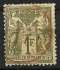 """YT 72 """" Sage Type I 1F Vert """" 1876-78 Cachet Rouge - 1876-1878 Sage (Type I)"""