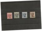 ITALIE -numero Yvert 117/120 Charniére* (congrés Philatélique De Trieste 1922) Cote 900 Prix 290 Signé Scheller - 1900-44 Victor Emmanuel III
