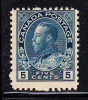 Canada Scott #111 MNH 5c George V - Admiral Issue - 1911-1935 Règne De George V