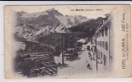 HAUTES ALPES - RARE CARTE POSTALE ANIMEE De L´HOTEL DE LA MEIJE à LA GRAVE - 1910 - CACHET D´HOTEL - - Autres Communes