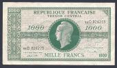 1000 FRANCS MARIANNE CHIFFRES MAIGRES - 1943-1945 Marianne