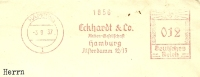 Germany Cover With Meter Eckhard & Co Aktien-Gesellschaft Hamburg 3-9-1937 Freistempel - Marcofilie - EMA (Print Machine)