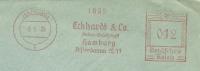 Germany Window Cover With Meter Eckhard & Co Aktien-Gesellschaft Hamburg 8-6-1936 Freistempel - Duitsland
