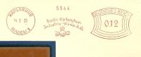 Germany Window Cover With Meter Berlin-Karlsuhrer-Industr Ie-Werke A.G. Karlsruhe 14-3-1933 Freistempel - Fysica