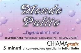 *CHIAMAGRATIS - N.445 - MONDO PULITO* - Scheda NUOVA (MINT) (MASTER) - Italia