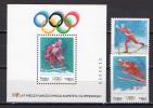 Poland 1994 Olympic Games Lillehammer Set Of 2 + S/s MNH - Winter 1994: Lillehammer