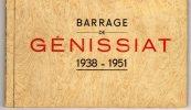 01 AIN   GENISSIAT CARNET 1938-1951 - Génissiat