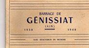 01 AIN   GENISSIAT CARNET 1938-1948 - Génissiat