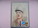 CARTE MAXIMUM MAXIMUM CARD SCULPTURE DU GENERAL DE GAULLE  FRANCE - Maximumkaarten