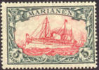 Germany Mariana Islands #29 Mint Hinged 5m Kaiser´s Yacht From 1901, Expertized - Colony: Mariana Islands