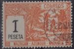 MARRUECOS - POSTAS LOCALES - MAZAGAN - AZEMMOUR - MARRAKECH, EDIFIL Nº 72 - USADO - Maroc Espagnol