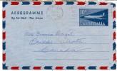 AUSTRALIA Aerogramme Lettersheet Postmarked Toorak, 19 Apr 1960 To Canada - Aerogrammes