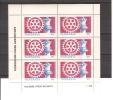 ROTARY & ECHECS / TANZANIE 1986 / Bloc De 6  Timbres Neufs** Faciale 20F /.ROTARY Et Championnat Du Monde Echecs - Rotary Club