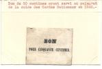 RARE .BON 50 CTS GARDE NATIONALE DE PARIS . 1848 - Bons & Nécessité