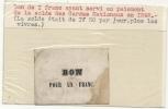 RARE .BON 1 FR. GARDE NATIONALE DE PARIS . 1848 - Bonos