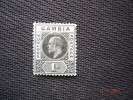 Gambia 1902 K.Edward VII  1/-  SG 52   MH - Gambia (...-1964)