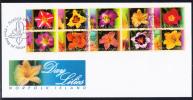 Norfolk Island Scott #793 FDC Block Of 10 Day Lilies - Ile Norfolk
