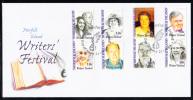 Norfolk Island Scott #795a-h FDC Set Of 4 Pairs Writers' Festival - Ile Norfolk