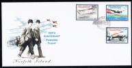 Norfolk Island Scott #801-803 FDC Set Of 3 100th Anniversary Of Powered Flight - Ile Norfolk