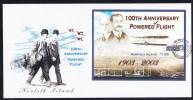 Norfolk Island Scott #804 FDC Souvenir Sheet $1.65 100th Anniversary Of Powered Flight - Ile Norfolk