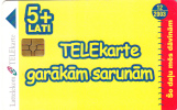 LATVIA - Telecard 5 Lati Plus, Tirage 30000, Exp.date 12/03, Used - Latvia
