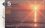 LATVIA - Baltic Sea/Sunset, Tirage 50000, Exp.date 31/12/99, Used - Lettonia