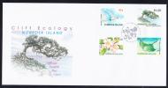 Norfolk Island Scott #754-757 FDC Set Of 4 Cliff Ecology - Tropicbird, White Oak Tree & Flower, Eagle Ray - Ile Norfolk