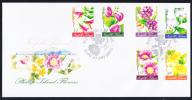 Norfolk Island Scott #767-778 2 FDCs Set Of 12 Phillip Island Flowers - Ile Norfolk