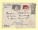 Lettre De Fontainebleau Par Avion Pour La Chine - 2-3-34 - Postmark Collection (Covers)