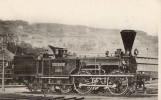 THEMES - TRAINS - Locomotives Suisses - Ancienne Compagnie De L'Union Suisse - Ancienne Machine à Voyageurs - Eisenbahnen
