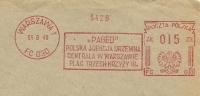 Poland  Firm Cover Paged Polska Agencja Drzewna.. With System Of Fracotype Model C Meter, Warszawa 14-8-1949 - Marcofilie - EMA (Print Machine)