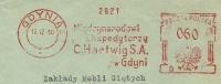 Poland  Nicfirm Cover Mledzynarodowl C. Hartwig S.A.. With System  Meter, Gdynia 16-12-1960 - Marcofilie - EMA (Print Machine)