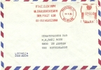 Poland Firm Cover P.T.H. Z. Elektram With Postalia Meter, Warszawa 18-9-1984 Airmail - Marcofilie - EMA (Print Machine)