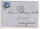 FRANKREICH - 1868 , Nummernstempel 3174  LA ROCHELLE - 1863-1870 Napoléon III. Laure