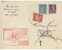 FRANKREICH - 1939 , 1. Nachtflug PARIS - PAU (Bordeaux) Mit Nachporto - 1863-1870 Napoléon III. Laure