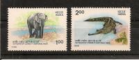 INDE ,éléphant Saurien,Y-T 888-89**(MNH) - Eléphants