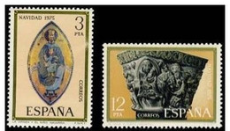 España 1975 Edifil 2300/1 Sellos * Christmas Nöel Navidad  La Virgen Y El Niño Retablo Santuario San Miguel Y La Huida - 1931-Hoy: 2ª República - ... Juan Carlos I