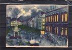 """22296    Belgio,    Liege,   Place  Du  Marche,  L""""Hotel  De Ville  Et  Le  Perron - Au  Clair  De Lune,  VG  1930 - Liege"""