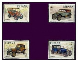 España 1977 Edifil 2409/12 Sellos ** Automoviles Antiguos Españoles La Cuadra, Hispano Suiza, Elizalde Y Abadal Completa - 1931-Hoy: 2ª República - ... Juan Carlos I