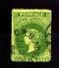 AUSTRALIA/SOUTH AUSTRALIA - 1861  1d. GREEN  ROULETTED  FINE USED - Usati