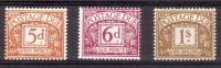 Groot-Brittannie 1968 MI 71-73 Postfris Porto - Strafportzegels