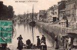 CPA  Animée - QUIMPER (29) - Le Port Et Le Quai - 1911 - Quimper